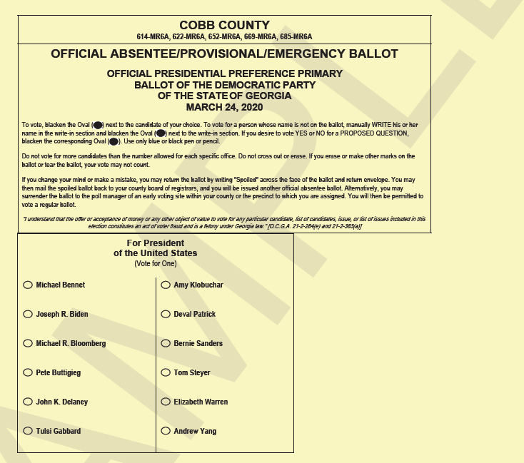 Cobb elections qualifying, presidential early voting next ...